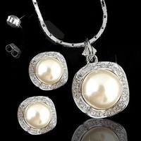 magnificent evening party famous austria crystal jewellery brand design pearl bridal jewelry set