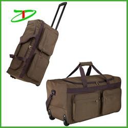 2015 Quanzhou factory fashion custom wheeled duffle bag for travel , designer trolley bag