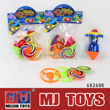 Brand new 2 in 1 musical spinning top with laser&Flying disc with crazy price