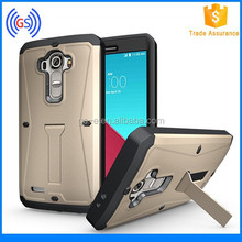 Armored Tank Case For LG G4 Factory Wholesale 3 In 1 Hybrid Phone Case With Kickstand