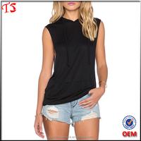 Manufacturing clothing china wholesale oem women sleeveless hoody