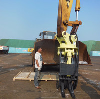 hydraulic grapple for CASE excavator/excavator 360 degree rotating gripper