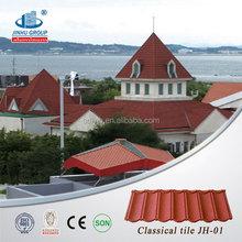 Useful building material waterproof colorful stone coated metal roofing tile