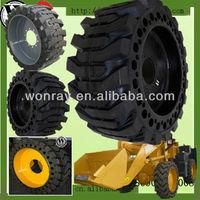 hot sale solid wheel loader bobcat rubber tyre 12-16.5 for bobcat s130 s180 (various size)