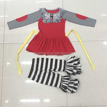 Boutique children fall winter outfits dot tops elephant printe and dot ruffles pants baby girls outfits