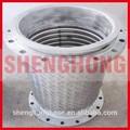 400mm diámetro de la brida conectar tubo flexible trenzado