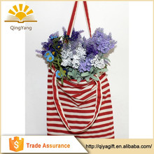 Wholesale customized plain gift package cotton fabric shopping bag