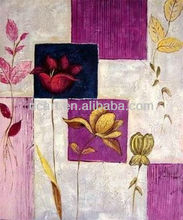 Newest Style Handmade simple abstract flower oil painting for home decor