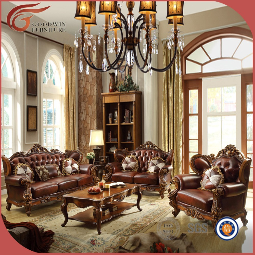 Elegant antique living room furniture wholesale leather for Wholesale living room furniture sets