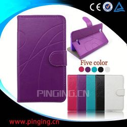 factory price book style leather case for samsung galaxy trend plus s7580