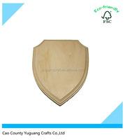Custom Blank Wooden Shield Plaque