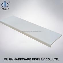 white mdf clothes display shelf/garment display shelf/shelf display rack