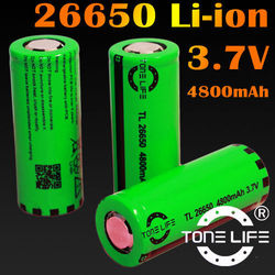 Mod battery 26650 4800mah high capacity 3.7v rechargeable battery with flat top