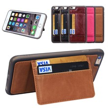 TOP Seller New design Multifuction Leather Cover for iPhone 6 Plus Case with Credit Card Slot,for iphone6 plus shockproof cover