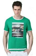 mens 95 cotton 5 spandex t shirts with pattern