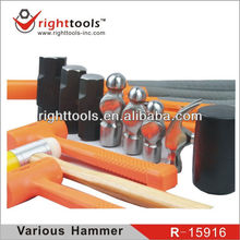 Professional quality Various Mallet Hammer with rubber handle