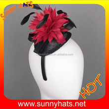 Alibaba China Sunny Hats Wholesale High Quality Fashion Ladies Wedding And Party 100% Feather Hat Bands
