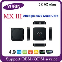 Android 4.4 quad core MXIII TV box google internet for taiwan iptv