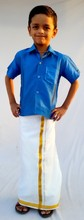 ETHNIC READY TO WEAR ART SILK DHOTI AND RAW SILK SHIRT FOR BOYS