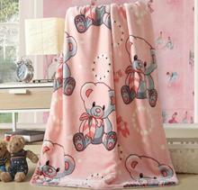 100% polyester cloud mink wool baby blanket