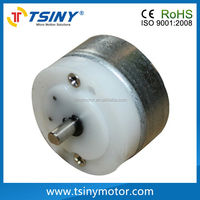 6v dc plastic gear electric motor with thin reducer for helmet/handicraft