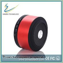 Round bluetooth speaker LED light, low price bluetooth speaker with TF card reader, metal bluetooth speaker