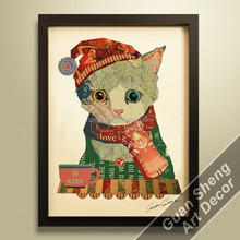 Graceful Hello Kitty oil painting for wall decor hanging art