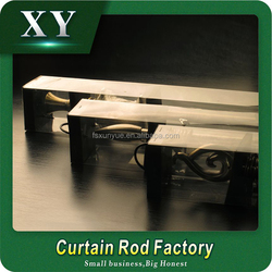 XY Popular new design diamond curtain finial with double curtain rod set