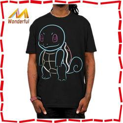 2015 wholesale high quality 100% cotton custom o neck design digital printing custom fabric tshirt with dinosaur printed