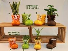 2015 creative manual mini bonsai pot ceramic pottery flower pots for colors plant pot