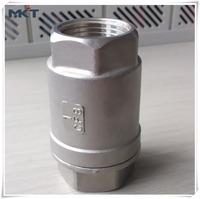 Standard Stainless Steel Female Thread Lift JIS Screwed 2PC Spring Check Valve PN40