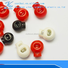 Hotsale plastic garment cordlock with spring fashion plastic stopper cordlocks with 550 paracord