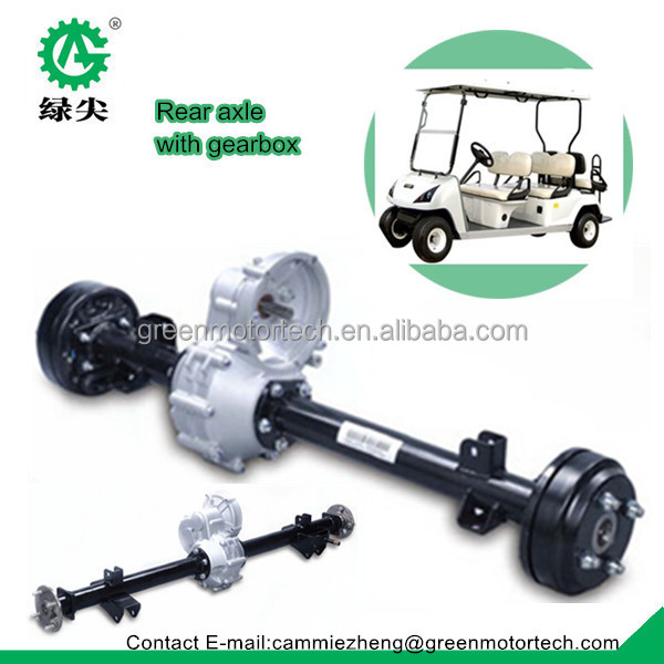 Electric Golf Cart Motor Transaxle With Gearbox