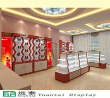 fashion cosmetic display wall cabinet store fixture furniture for retail store
