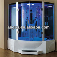 Multifunctional steam room with sliding door,massage bathtub for two person YH-608P