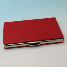 OEM PU Leather Business Card Case With Retail Box