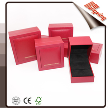 bevel double ring jewelry box printted red color
