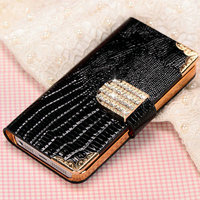 High quality wallet kind mobile advertising phone case pouch for Iphone 5 5S
