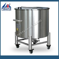 100-1000L FLK stainless steel water tank 10000 liter vwith rollers for sale