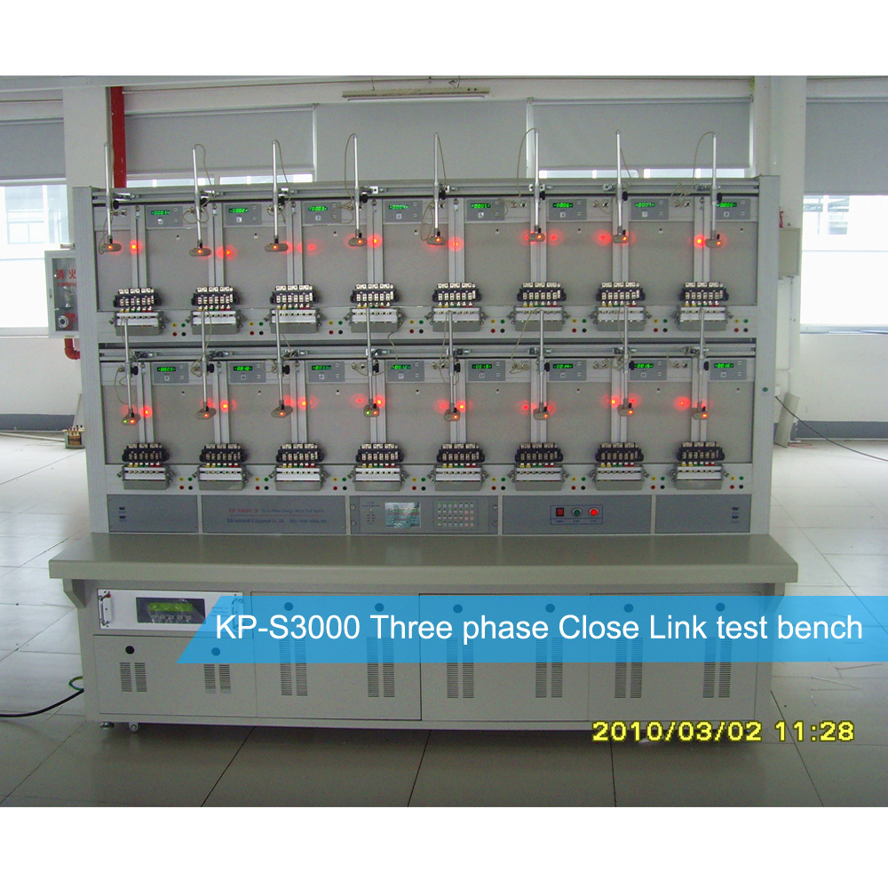 Three Phase Energy Meter Calibration Test Bench Equipment