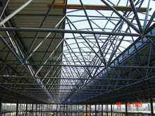 Long span high quality Red Dragon shopping mall super market steel space frame roof systems building in Romania