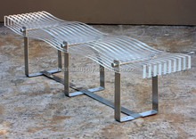 outdoor acrylic lounge acrylic long leisure chair