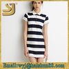 Black and white stripe short sleeve dress