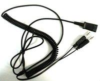 VOIP headsets adaptor 3.5mm audio jack