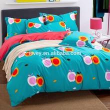 lovely apple designs reactive printed duvet cover / bed sheet set/ bedding wholesale