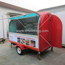 Electric tricycle food cart vending mobile food vans with wheels CE&ISO9001Approval