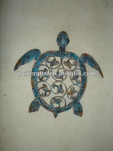 metal turtle wall art