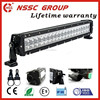 Cree popular high class IP68 waterproof double row famous NSSC brand 120w led light bar with limited lifetime warranty