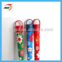 Colorful flower plastic cover wooden mop rod for indian