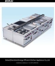 BOKAI gas cooking range,commercial range,4 burner gas range with oven